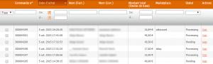 gestion des commandes e-commerce