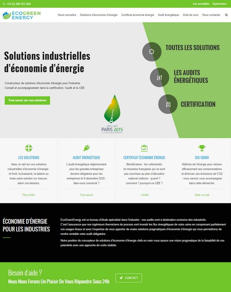 Vitrine de commerce de solutions d'économie d'énergie